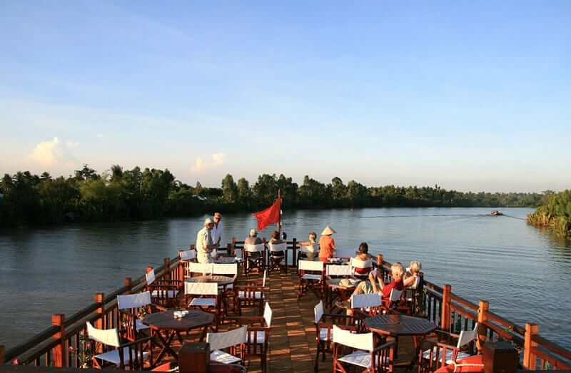 Mekong Delta Relaxing on the Deck Food and Travel Vietnam