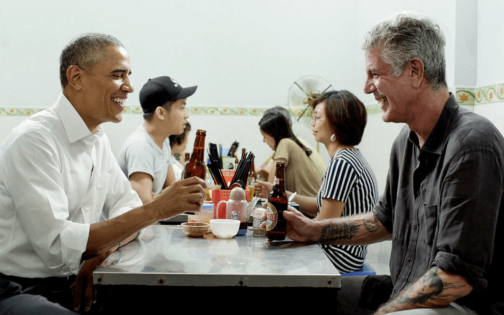 President Obama & Anthony Bourdain in Hanoi