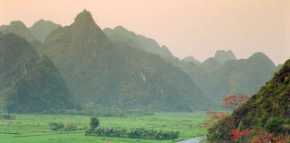 A View of the Huong Mountain
