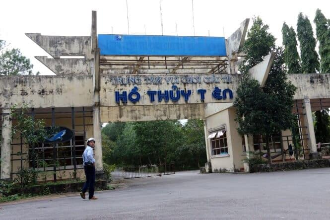 The entrance of the Ho Thuy Tien abandoned theme park