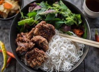 Bun Cha Pork Meatballs and Rice Noodles