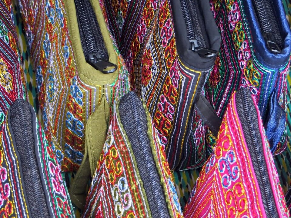 Laos Colourful Purses