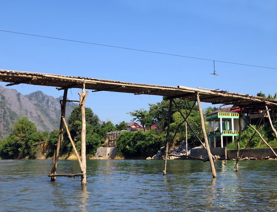 River Bridge Laos
