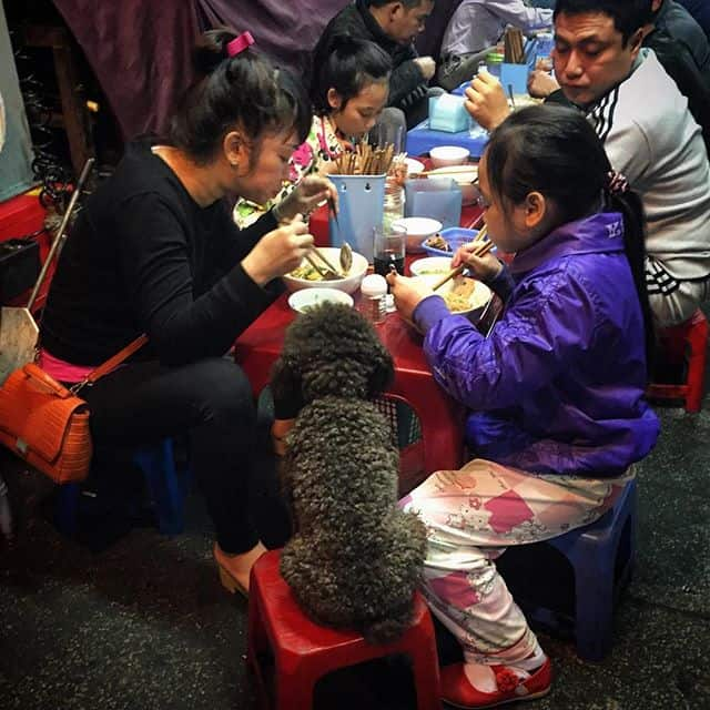 Vietnamese Family Sharing Meal