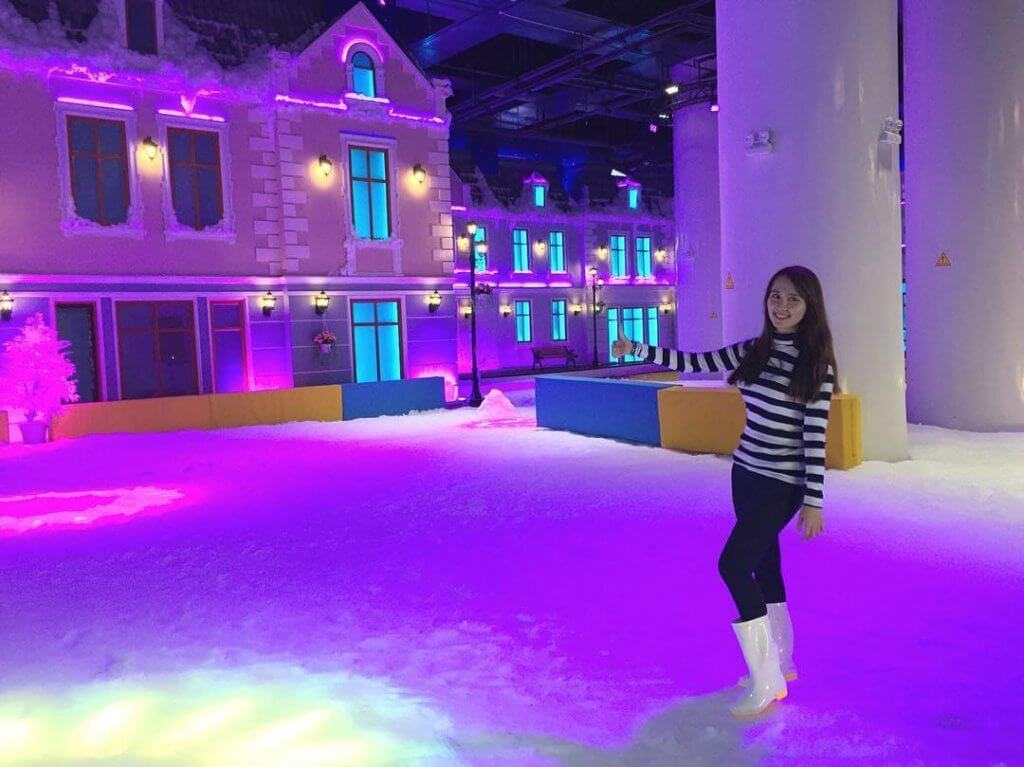 Colourful Backdrop European Saigon Snow Town