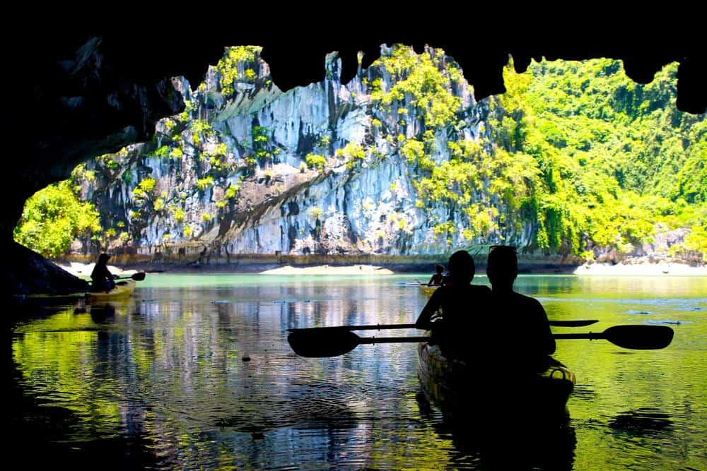 Caves in Halong bay