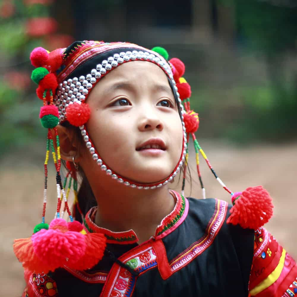Ha Nhi ethnic people in traditional dress