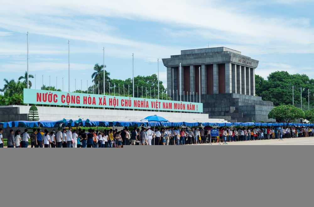 Ho-Chi-Minh's-Mausoleum-in-the-capital-of-Vietnam